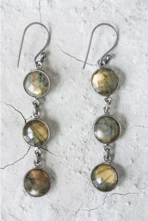 Regina Andrew Aurora Earrings Labradorite Bezel (Patina) 67-06-0054V