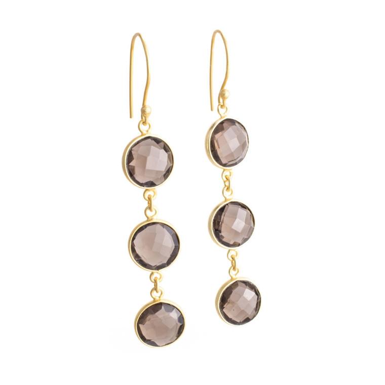 Regina Andrew Aurora Earrings Smoke Bezel (Gold) 67-06-0055M