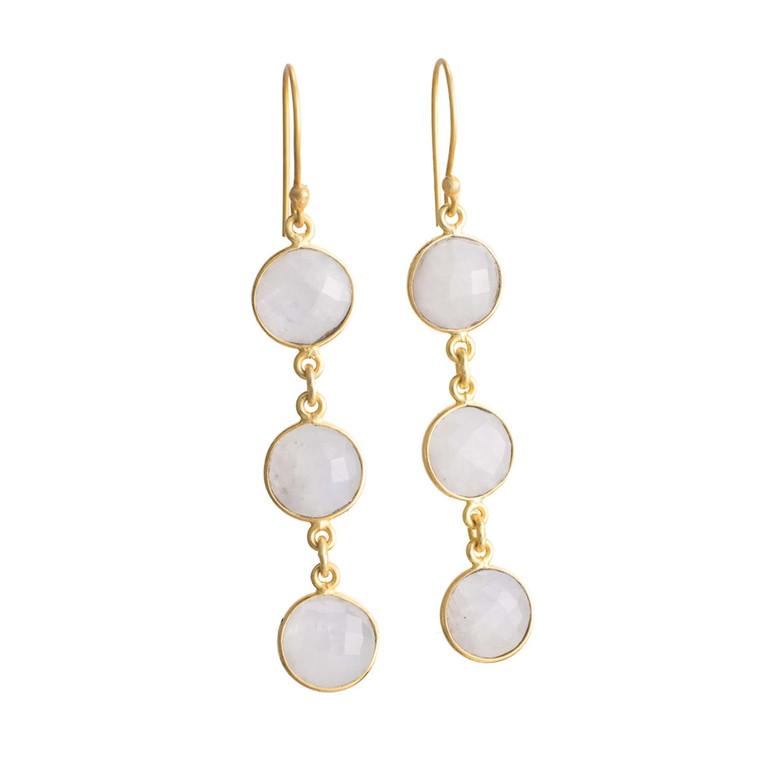 Regina Andrew Aurora Earrings Moonstone Bezel (Gold) 67-06-0057M