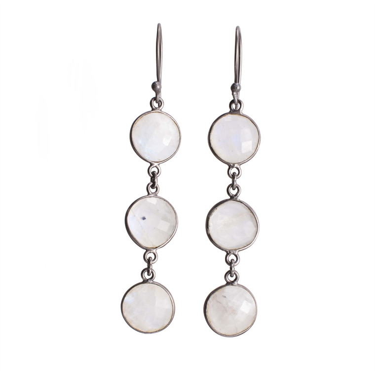 Regina Andrew Aurora Earrings Moonstone Bezel (Patina) 67-06-0057V