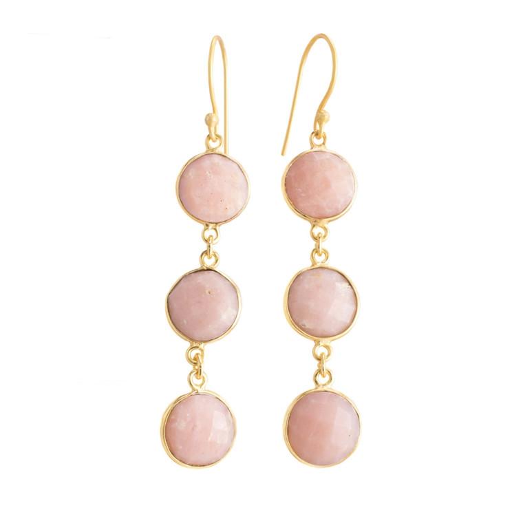 Regina Andrew Aurora Earrings Pink Opal Bezel (Gold) 67-06-0060M