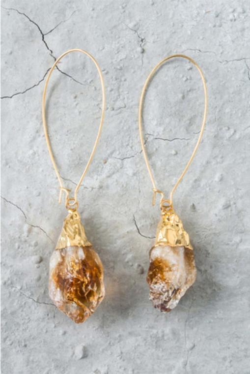Regina Andrew Evelyn Earrings Citrine Point (Gold) 67-06-0011M