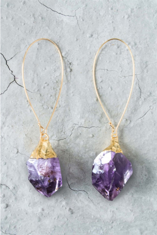 Regina Andrew Evelyn Earrings Evelyn Earrings Amethyst Point (Gold) 67-06-0013M