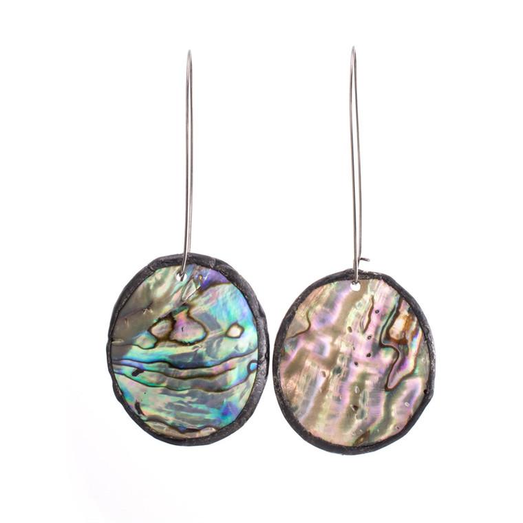 Regina Andrew Evelyn Earrings Abalone Shell (Patina) 67-06-0122V