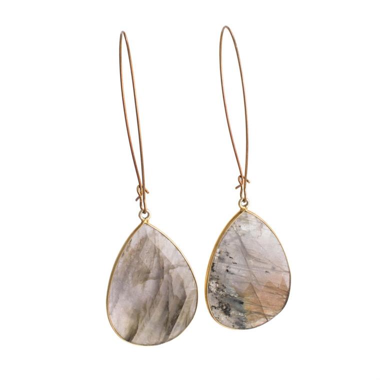 Regina Andrew Evelyn Earrings Labradorite Pear (Gold) 67-06-0093M