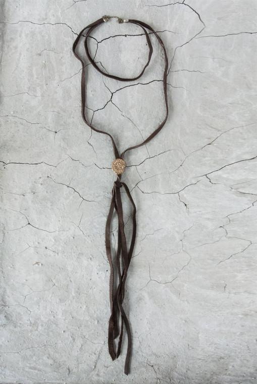 Regina Andrew Cheyenne Necklace Leather in Antique Bronze 67-03-0051