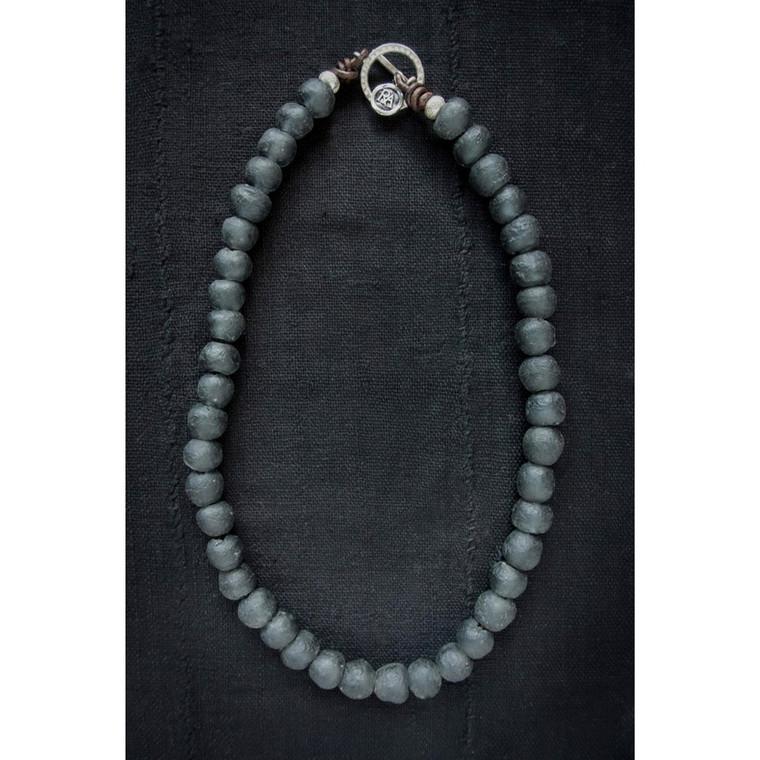 Regina Andrew Ike Necklace Black African Glass 67-02-0064