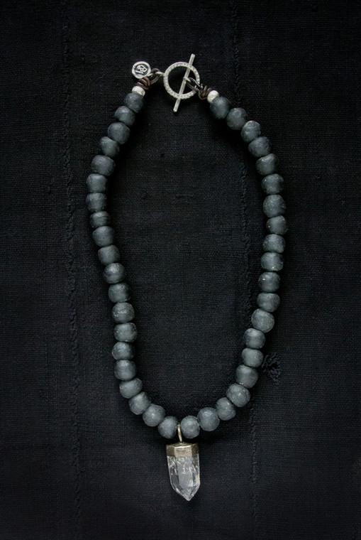 Regina Andrew Ike Necklace Black African Glass Quartz 67-02-0065