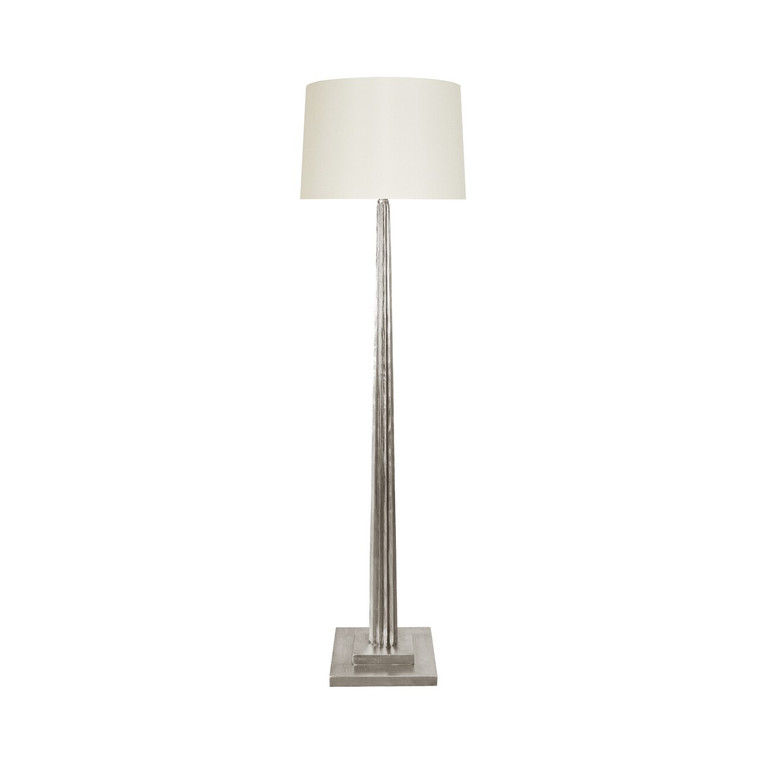 Worlds Away Capone Floor Lamp in Silver Leaf CAPONE S