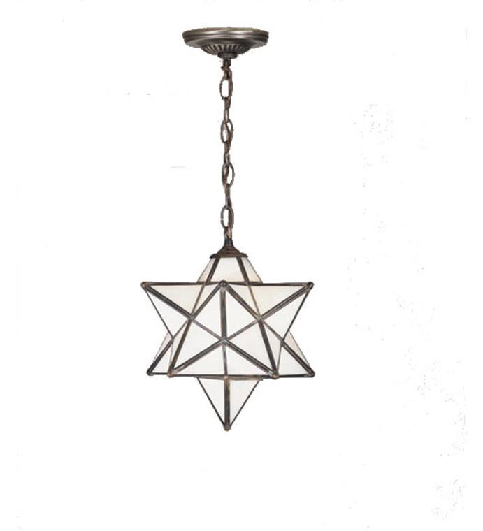 "Meyda Lighting 12""W Moravian Star White Pendant 21841"