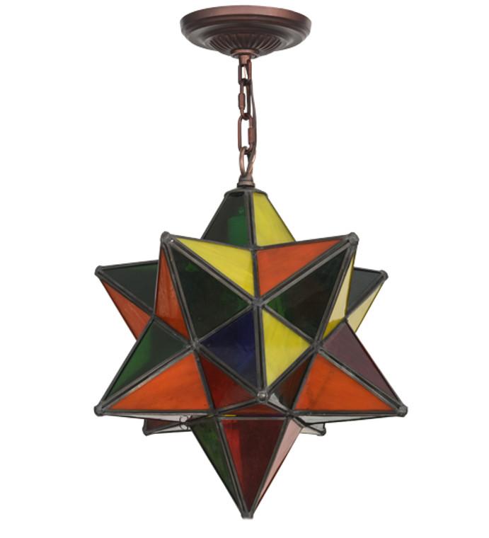 "Meyda Lighting 12"" Wide Moravian Star Pendant 72849"