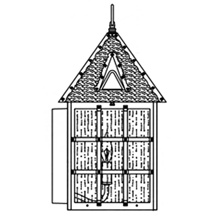 Hanover Lantern B8101 Large Abington Wall Mount