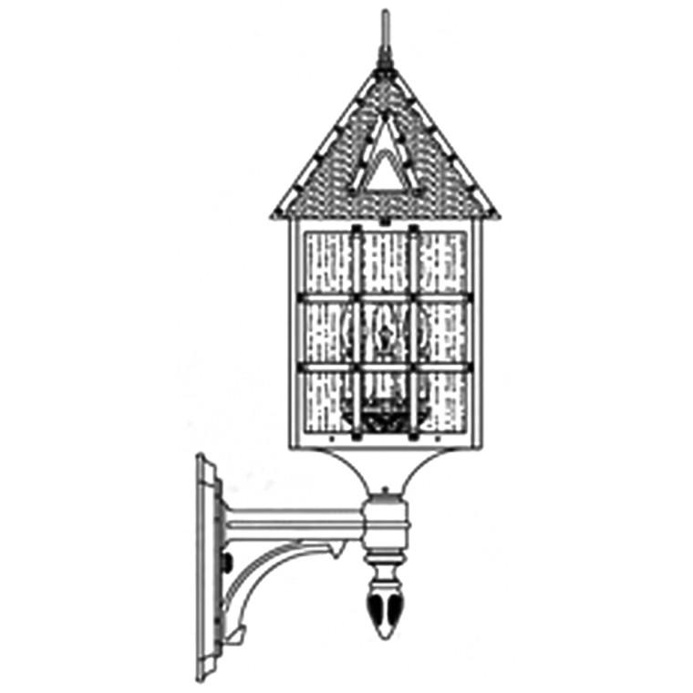 Hanover Lantern B8110 Large Abington Wall Mount
