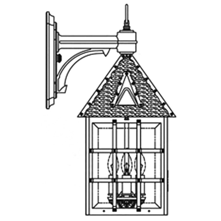 Hanover Lantern B8112RM Large Abington Wall Mount