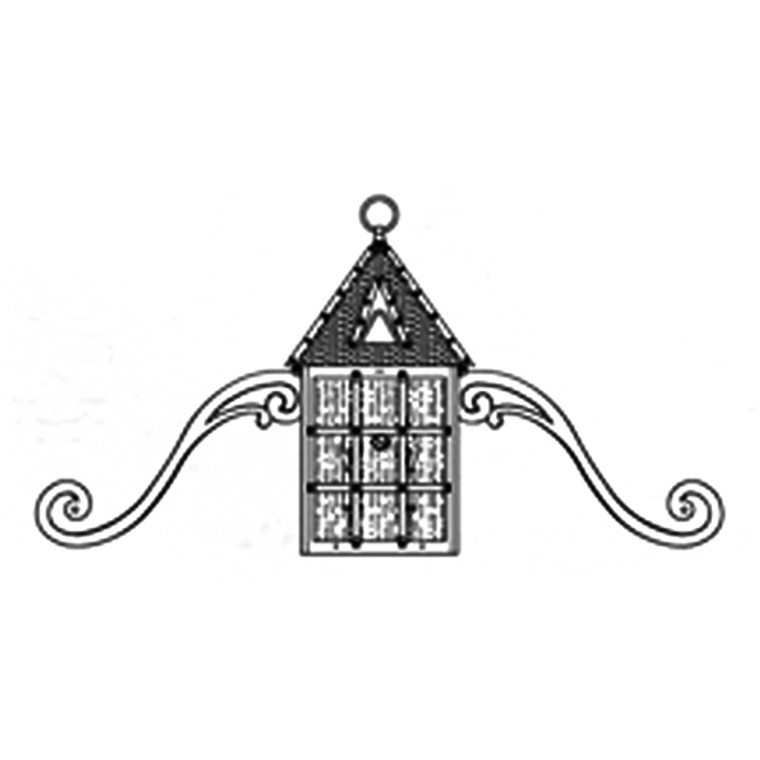Hanover Lantern B8150 Large Abington Signature Wall Mount (with Scrolls)
