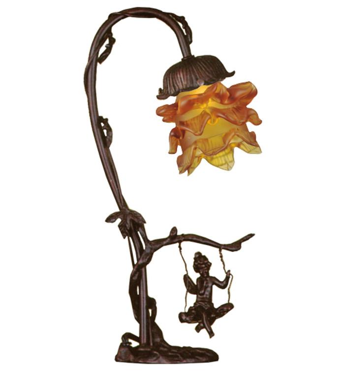 "Meyda Lighting 16""H Cherub On Swing Accent Lamp 196519"
