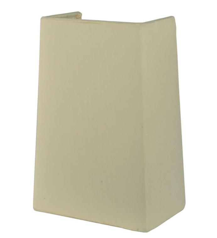 "Meyda Lighting 7""W X 10""H Linen Antique Cream Half Shade 119751"