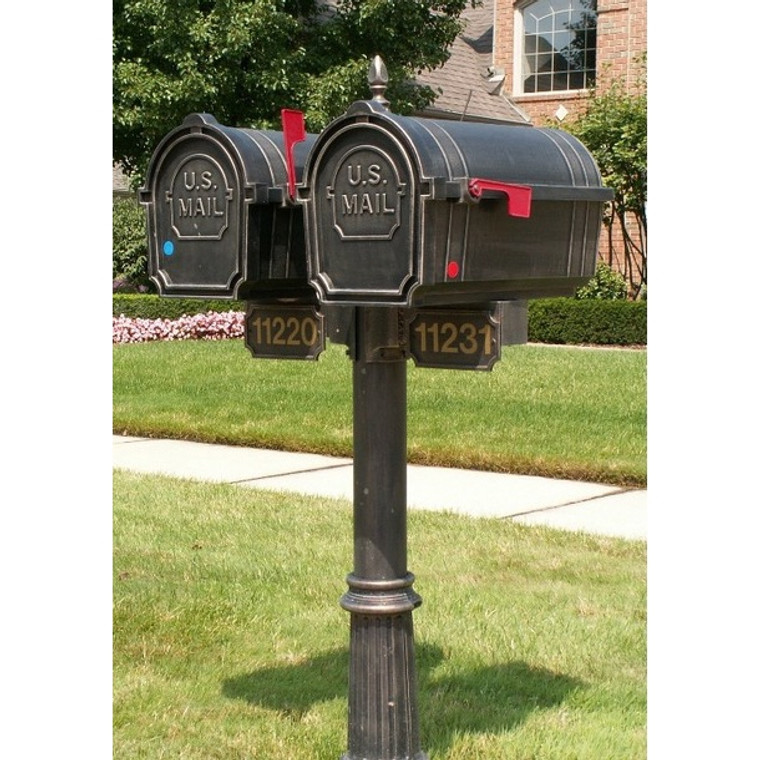Hanover Lantern L59720 Double Set-up Pine Valley Mailbox with Bottom Address Sign