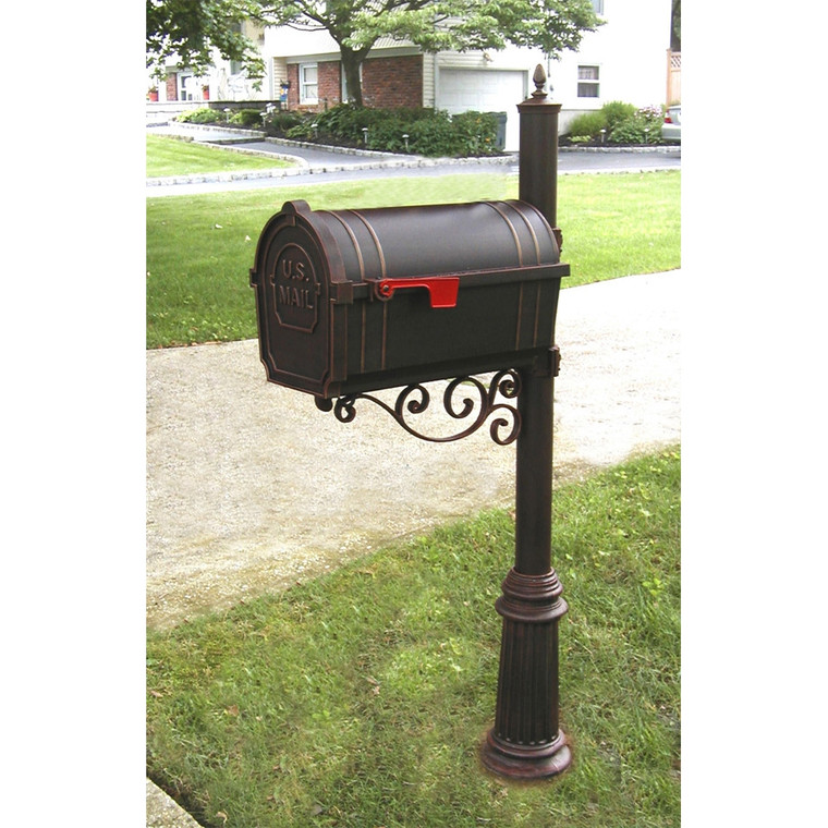Hanover Lantern M144N Pine Valley Mailbox with Scroll