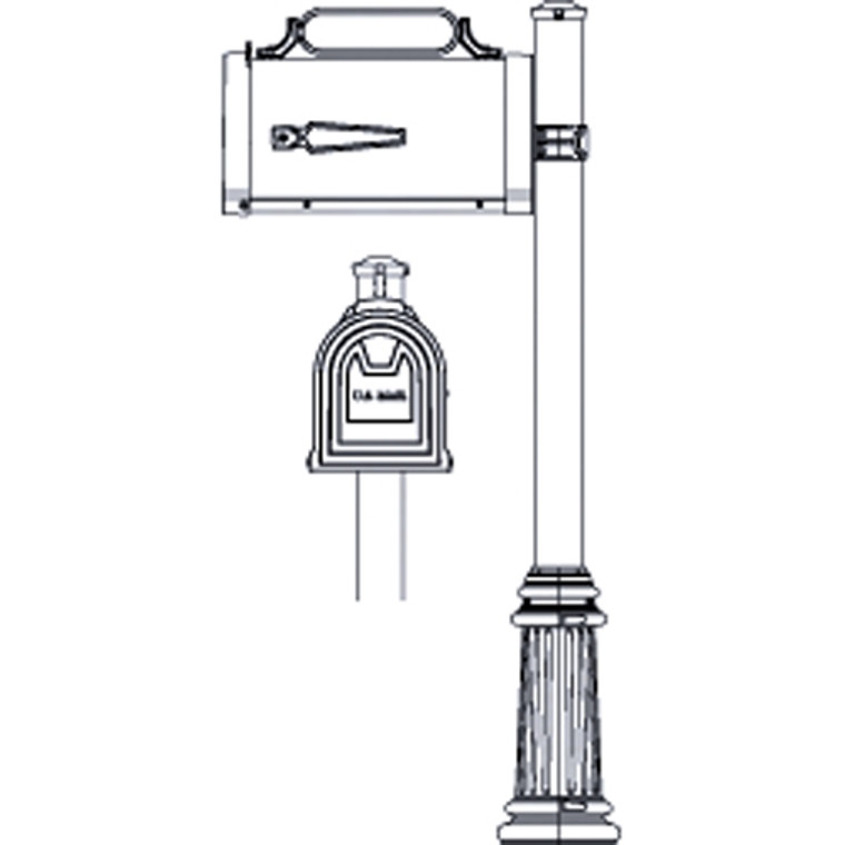 Hanover Lantern M201S Oakmont Mailbox with Address Sign