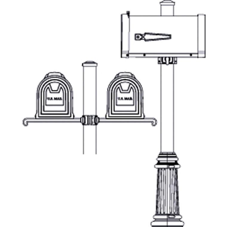 Hanover Lantern M204 Oakmont Double Mailbox