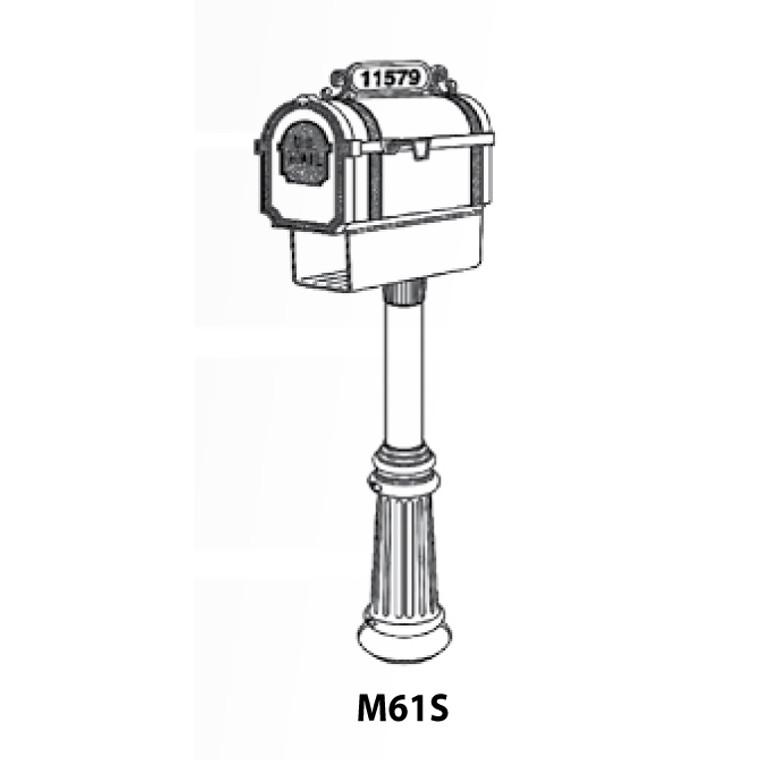 Hanover Lantern M61S Pine Valley Mailbox with Address Sign and Newspaper Box