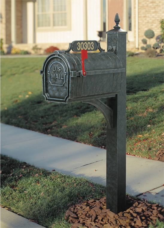 Hanover Lantern M80S Pine Valley Mailbox with 4 inch Square Post and Address Sign