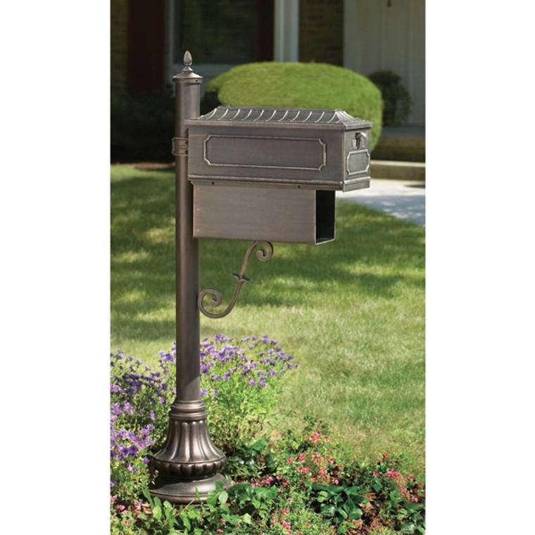 Hanover Lantern M96 Muirfield Village Mailbox with Newspaper Box