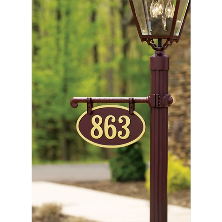 Hanover Lantern R225-3 Cast Ladder Rest Sign with Raised Cast Characters