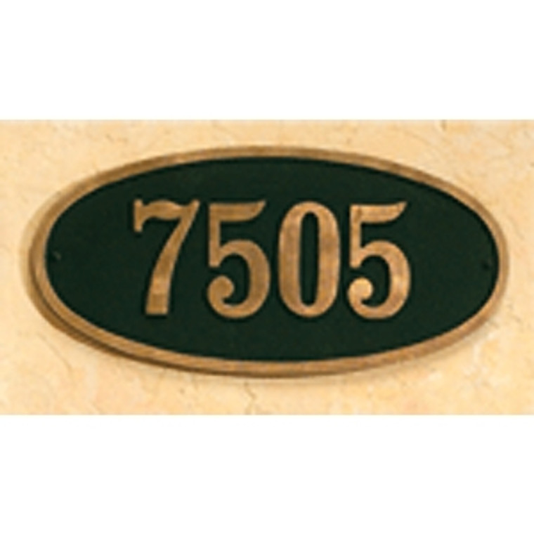 Hanover Lantern R617 Cast Wall Sign with Raised Cast Numbers