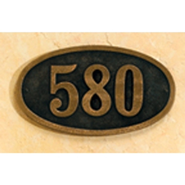 Hanover Lantern R629 Cast Wall Sign with Raised Cast Numbers