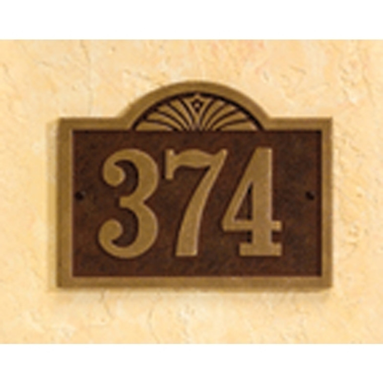 Hanover Lantern R632 Cast Wall Sign with Raised Cast Numbers