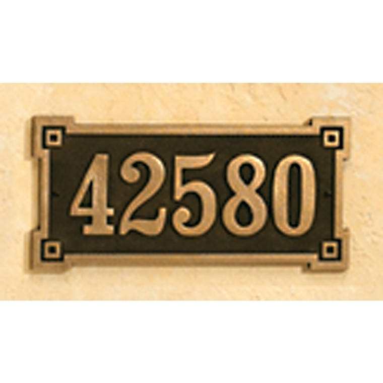 Hanover Lantern R633 Cast Wall Sign with Raised Cast Numbers