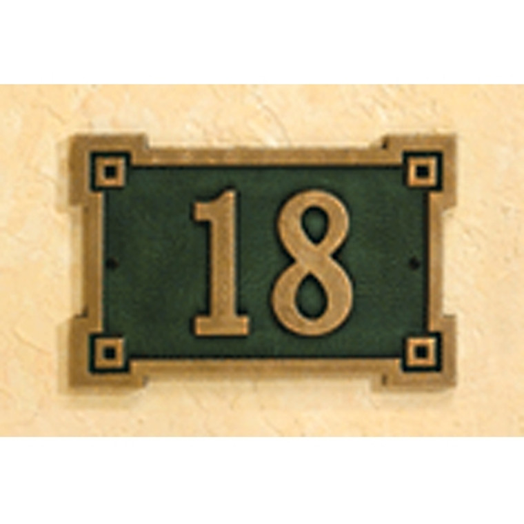 Hanover Lantern R634 Cast Wall Sign with Raised Cast Numbers