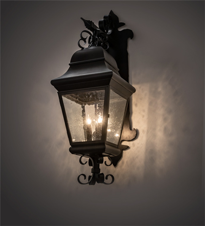 "Meyda Lighting 11"" Wide Vincente Lantern Wall Sconce 210564"