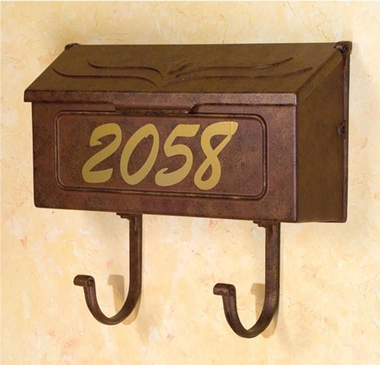 Hanover Lantern 185-1 Wall Mount Mailbox with Newspaper Rack