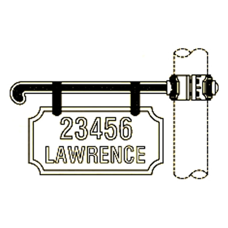 Hanover Lantern 223-3 Cast Ladder Rest Sign One Sided Only with Vinyl Characters