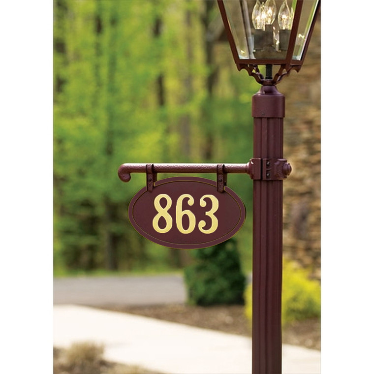 Hanover Lantern 225-3 Cast Ladder Rest Sign Only One Side with Vinyl Characters