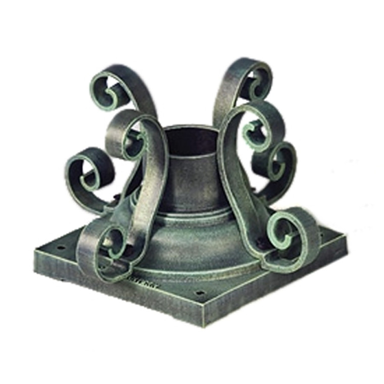 Hanover Lantern 455 Pier Mount with Scrolls for Outdoor Post and Lantern