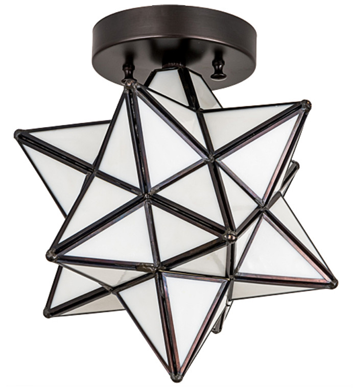 "Meyda Lighting 10""W Moravian Star Flushmount 189645"