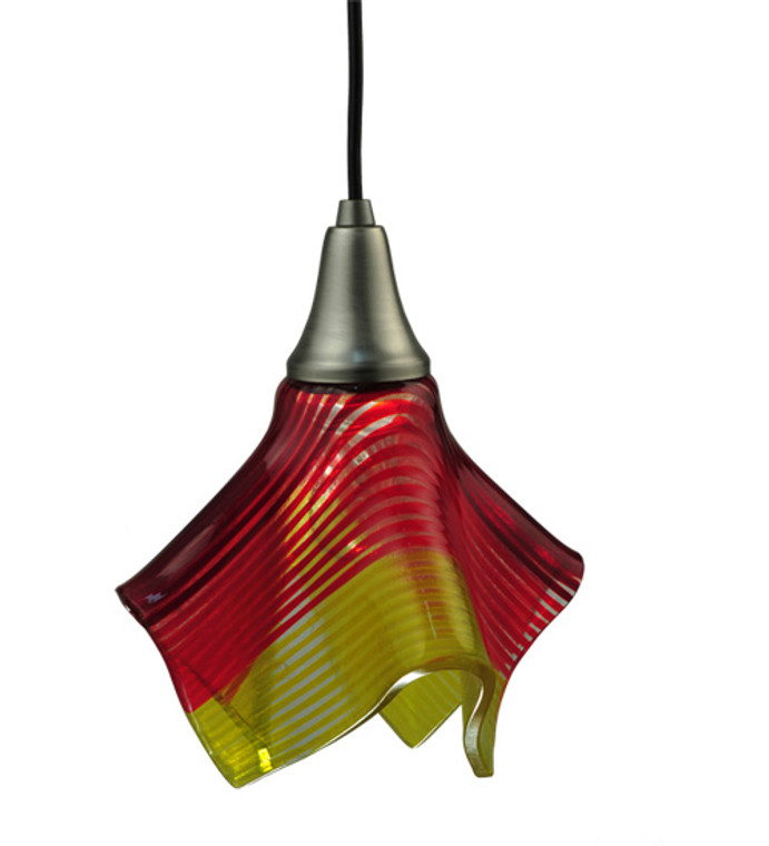 "Meyda Lighting 9"" Wide Handkerchief Stratos Solare Mini Pendant 110691"