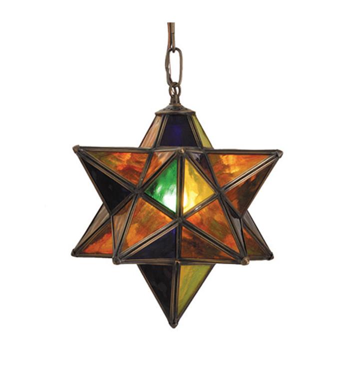 "Meyda Lighting 9""W Moravian Star Mini Pendant 81042"