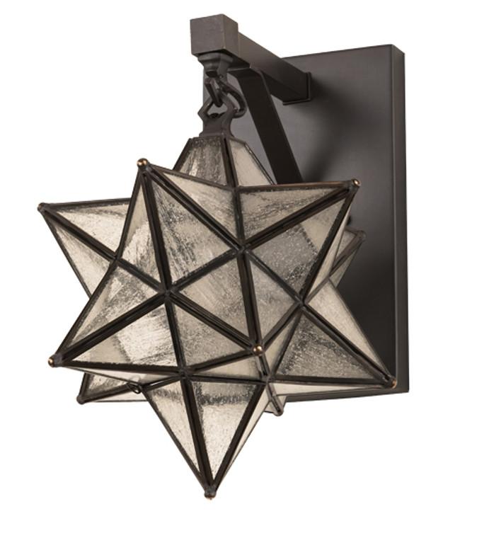 "Meyda Lighting 9"" Wide Moravian Star Hanging Wall Sconce 192944"