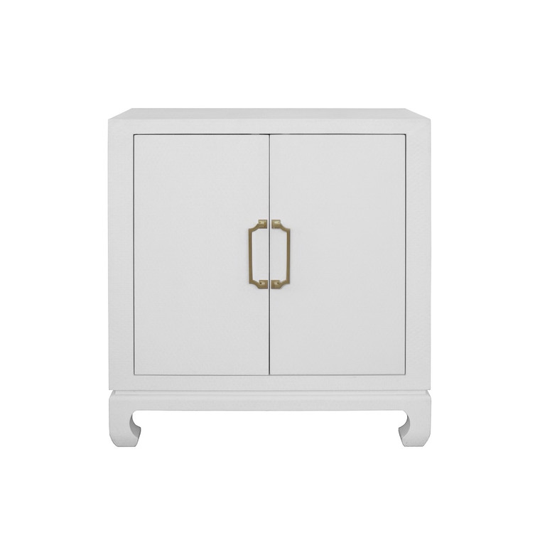 Worlds Away Renwick Two Door Chest in Grey RENWICK WH