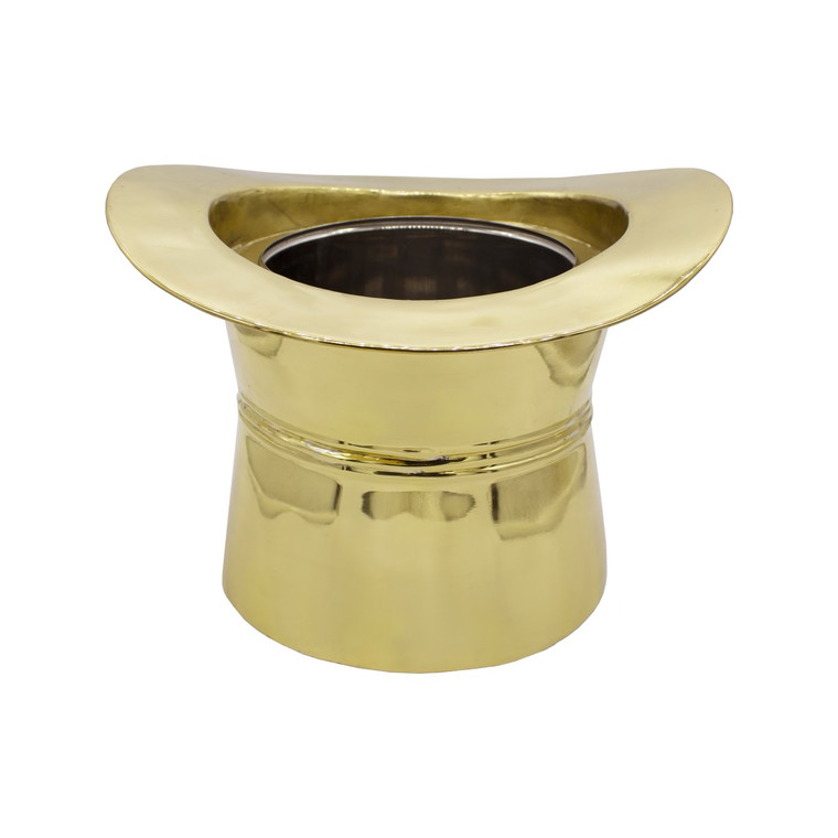Worlds Away Top Hat Ice Bucket in Brass TOP HAT BR