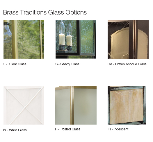 Brass Traditions Glass Panels Chart