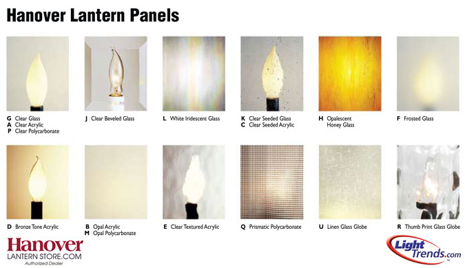 Hanover Lantern Panel Options