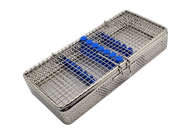 """Stainless Steel sterilization Cassette for 10 Pieces MESH Tray Box 8""""X5.50""""X1.50"""""""