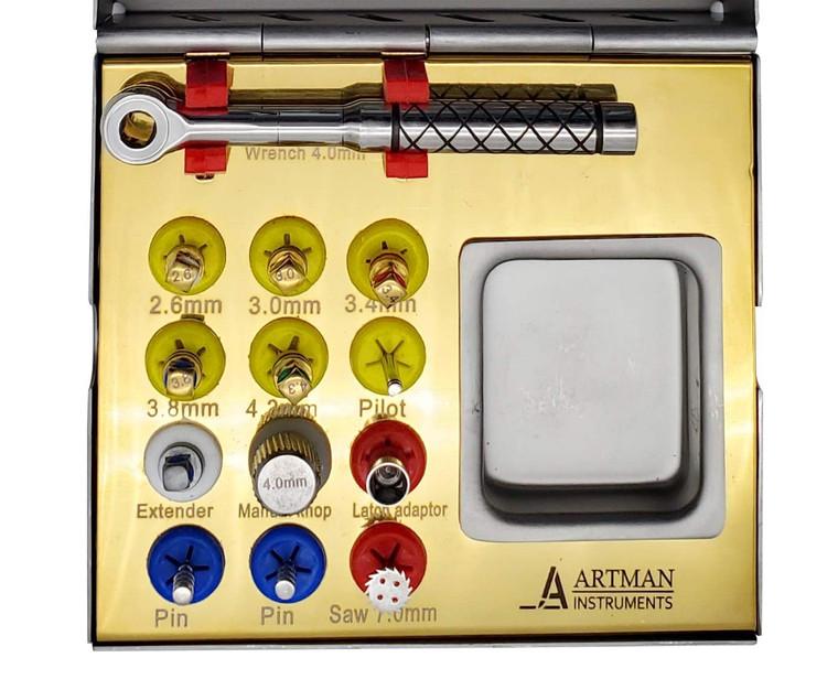 Bone Expander kit for Dental Implantologists, Bone Spreading, Sinus Lift by ARTMAN