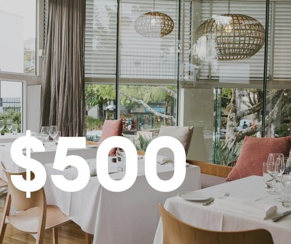 $500 Restaurant Credit